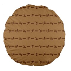 Brown Pattern Background Texture Large 18  Premium Flano Round Cushions