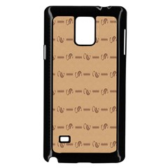 Brown Pattern Background Texture Samsung Galaxy Note 4 Case (black)