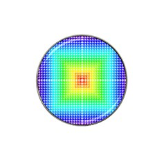 Square Rainbow Pattern Box Hat Clip Ball Marker (10 Pack)