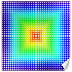 Square Rainbow Pattern Box Canvas 20  X 20
