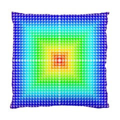 Square Rainbow Pattern Box Standard Cushion Case (two Sides)