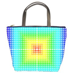 Square Rainbow Pattern Box Bucket Bags