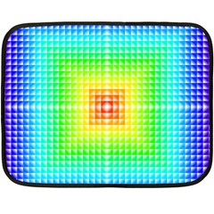 Square Rainbow Pattern Box Double Sided Fleece Blanket (mini)