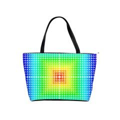 Square Rainbow Pattern Box Shoulder Handbags