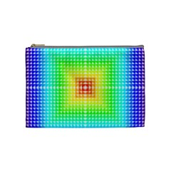 Square Rainbow Pattern Box Cosmetic Bag (medium)