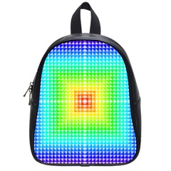 Square Rainbow Pattern Box School Bags (small)