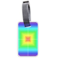 Square Rainbow Pattern Box Luggage Tags (one Side)