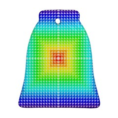 Square Rainbow Pattern Box Bell Ornament (two Sides)