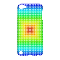Square Rainbow Pattern Box Apple Ipod Touch 5 Hardshell Case