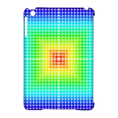 Square Rainbow Pattern Box Apple Ipad Mini Hardshell Case (compatible With Smart Cover)