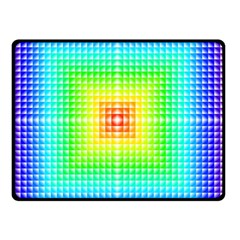 Square Rainbow Pattern Box Double Sided Fleece Blanket (small)