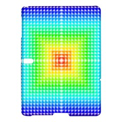 Square Rainbow Pattern Box Samsung Galaxy Tab S (10 5 ) Hardshell Case