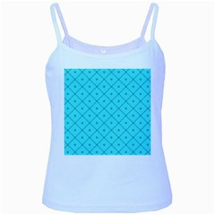 Pattern Background Texture Baby Blue Spaghetti Tank