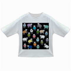 Sheep Cartoon Colorful Black Pink Infant/toddler T Shirts