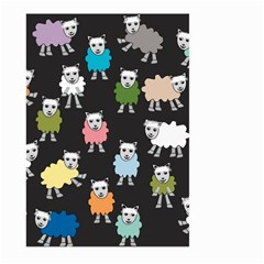 Sheep Cartoon Colorful Black Pink Large Garden Flag (two Sides)