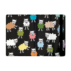 Sheep Cartoon Colorful Black Pink Apple Ipad Mini Flip Case
