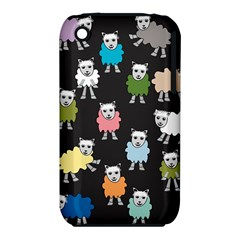 Sheep Cartoon Colorful Black Pink Iphone 3s/3gs