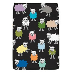 Sheep Cartoon Colorful Black Pink Flap Covers (l)