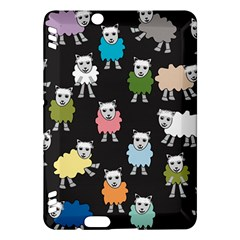 Sheep Cartoon Colorful Black Pink Kindle Fire Hdx Hardshell Case