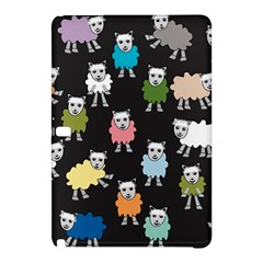Sheep Cartoon Colorful Black Pink Samsung Galaxy Tab Pro 10 1 Hardshell Case