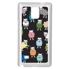 Sheep Cartoon Colorful Black Pink Samsung Galaxy Note 4 Case (white)