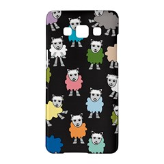 Sheep Cartoon Colorful Black Pink Samsung Galaxy A5 Hardshell Case