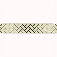 Brick2 Black Marble & Beige Linen (r) Small Bar Mats