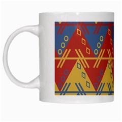 Aztec South American Pattern Zig White Mugs