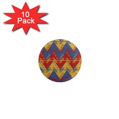 Aztec South American Pattern Zig 1  Mini Magnet (10 Pack)
