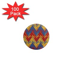 Aztec South American Pattern Zig 1  Mini Magnets (100 Pack)