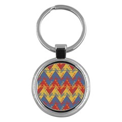 Aztec South American Pattern Zig Key Chains (round)