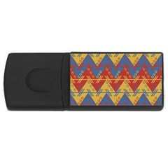 Aztec South American Pattern Zig Rectangular Usb Flash Drive