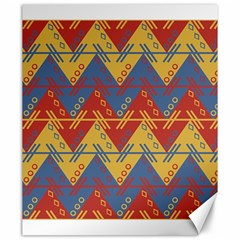 Aztec South American Pattern Zig Canvas 20  X 24