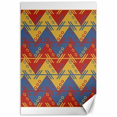 Aztec South American Pattern Zig Canvas 24  X 36