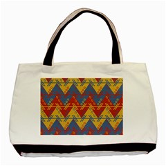 Aztec South American Pattern Zig Basic Tote Bag (two Sides)