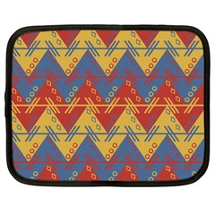 Aztec South American Pattern Zig Netbook Case (large)