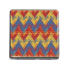 Aztec South American Pattern Zig Memory Card Reader (square)
