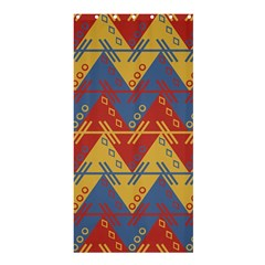 Aztec South American Pattern Zig Shower Curtain 36  X 72  (stall)