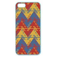 Aztec South American Pattern Zig Apple Seamless Iphone 5 Case (color)