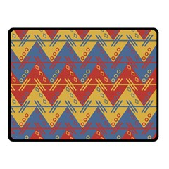 Aztec South American Pattern Zig Double Sided Fleece Blanket (small)