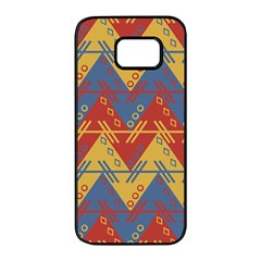 Aztec South American Pattern Zig Samsung Galaxy S7 Edge Black Seamless Case