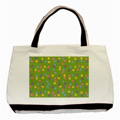 Balloon Grass Party Green Purple Basic Tote Bag