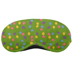 Balloon Grass Party Green Purple Sleeping Masks