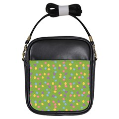 Balloon Grass Party Green Purple Girls Sling Bags