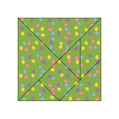 Balloon Grass Party Green Purple Acrylic Tangram Puzzle (4  X 4 )
