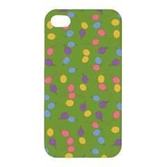 Balloon Grass Party Green Purple Apple Iphone 4/4s Premium Hardshell Case