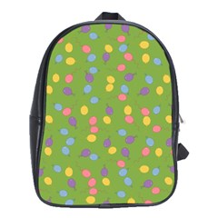 Balloon Grass Party Green Purple School Bags (xl)