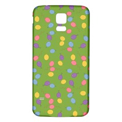 Balloon Grass Party Green Purple Samsung Galaxy S5 Back Case (white)