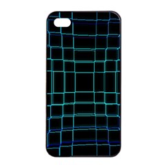 Abstract Adobe Photoshop Background Beautiful Apple Iphone 4/4s Seamless Case (black)
