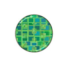 Green Abstract Geometric Hat Clip Ball Marker (4 Pack)